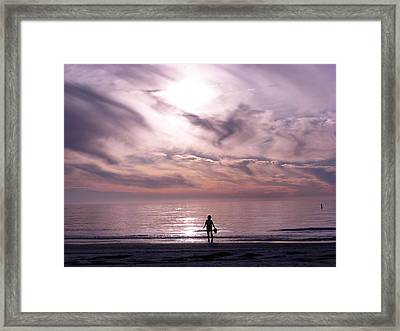 Little Waves Big World Framed Print