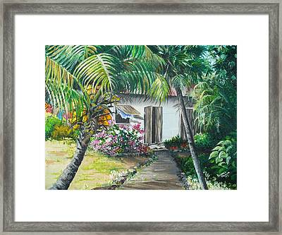 Little West Indian House 2...sold Framed Print by Karin  Dawn Kelshall- Best