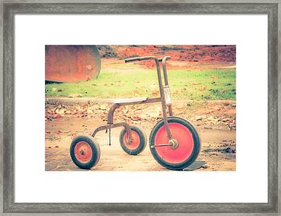 Little Wheels Framed Print by Toni Hopper