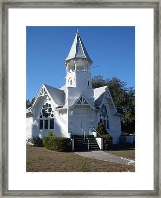 Little White Church Framed Print by Warren Thompson