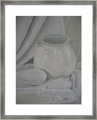 Little White Jug Framed Print