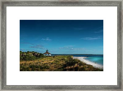 Little White Lighthouse Framed Print by Marvin Spates