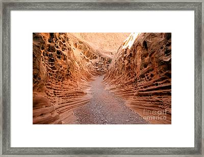 Framed Print featuring the photograph Little Wild Horse Canyon by Andrew Serff