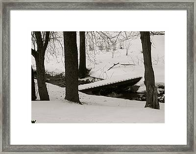 Little Winter Crossing Framed Print by Debra     Vatalaro
