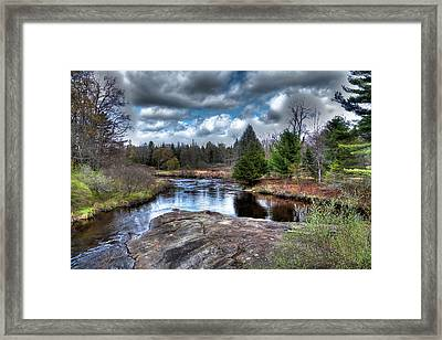 Big Woodhull Creek Framed Print by David Patterson