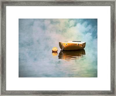 Little Yellow Boat Framed Print