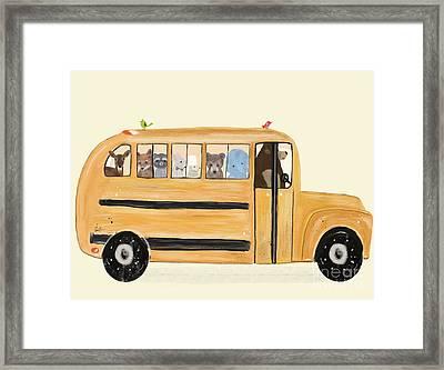 Little Yellow Bus Framed Print