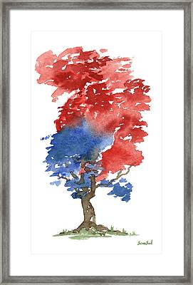 Little Zen Tree 292 Framed Print