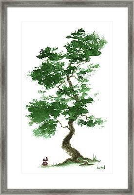 Little Zen Tree 365 Framed Print by Sean Seal