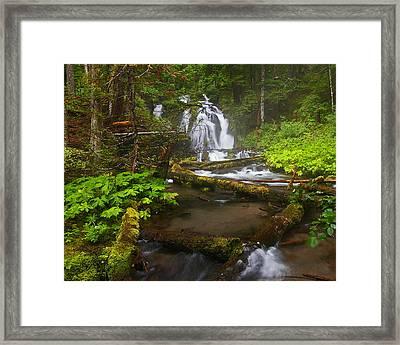 Little Zigzag Falls Framed Print