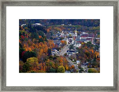 Littleton Autumn Framed Print