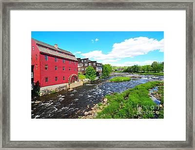 Littleton Grist Mill Framed Print by Catherine Reusch Daley