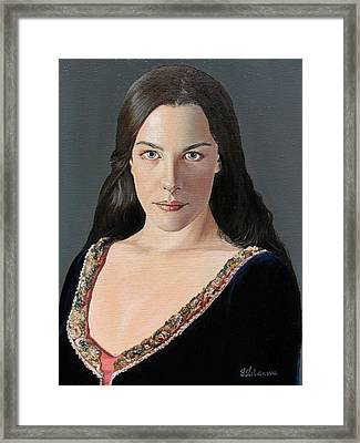 Liv Tyler As Arwen Framed Print by Yulia Litvinova