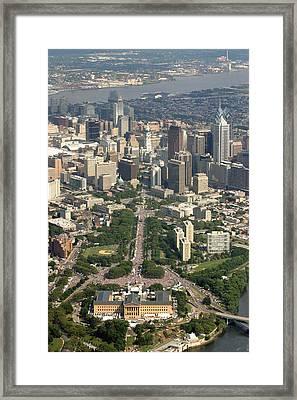 Live 8 Concert Philadelphia Ben Franklin Parkway 2 Framed Print