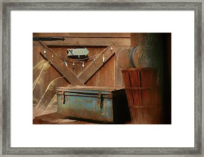 Framed Print featuring the photograph Live Bait by Lori Deiter