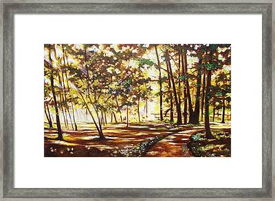 Framed Print featuring the painting Live Happily by Emery Franklin