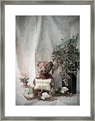 Live, Laugh, Love Bear No. 2 Framed Print by Sherry Hallemeier