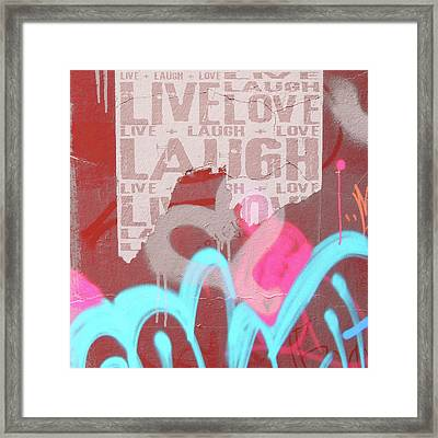 Live Laugh Love Framed Print