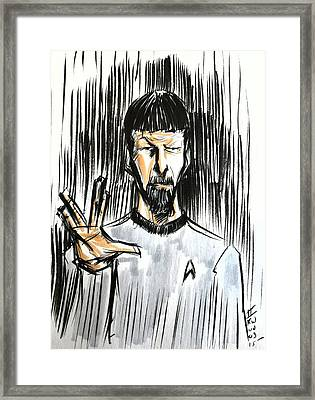 Live Long And Prosper...... Framed Print by Tu-Kwon Thomas