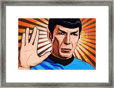 Live Long Mr Spock Framed Print