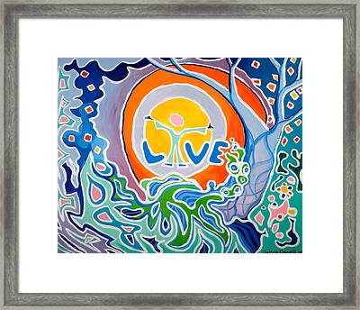 Framed Print featuring the painting Live Love by Jaison Cianelli