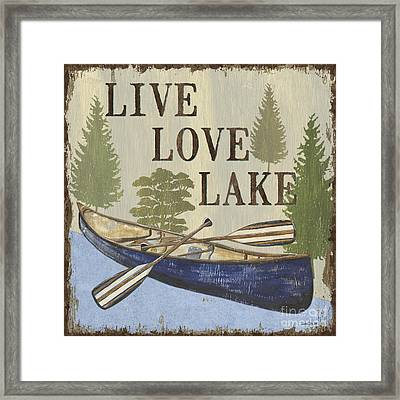 Live, Love Lake Framed Print by Debbie DeWitt