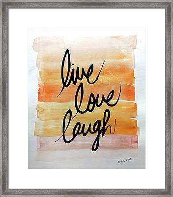 Live Love Laugh Framed Print by Edwin Alverio