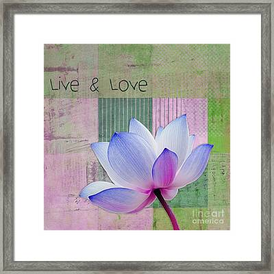 Live N Love - 03a11 Framed Print by Variance Collections