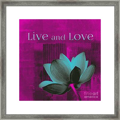 Live N Love - 15a01 Framed Print by Variance Collections