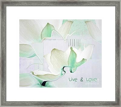 Live N Love - Absf42 Framed Print