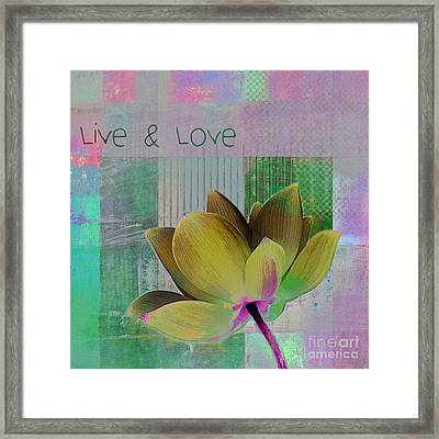 Live N Love - 88b Framed Print by Variance Collections