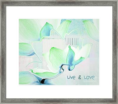Framed Print featuring the photograph Live N Love - Absf15 by Variance Collections