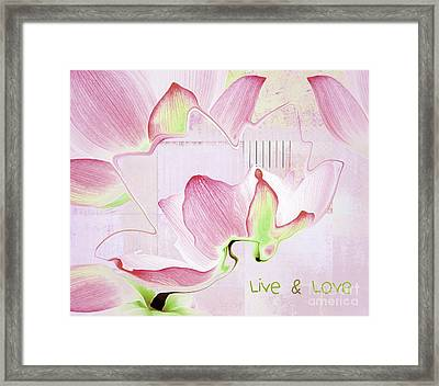 Framed Print featuring the digital art Live N Love - Absf17 by Variance Collections