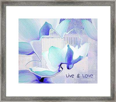 Framed Print featuring the photograph Live N Love - Absf43 by Variance Collections