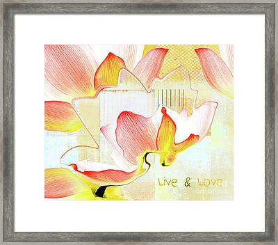 Framed Print featuring the photograph Live N Love - Absf44b by Variance Collections
