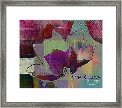 Live N Love - Absfl28b Framed Print