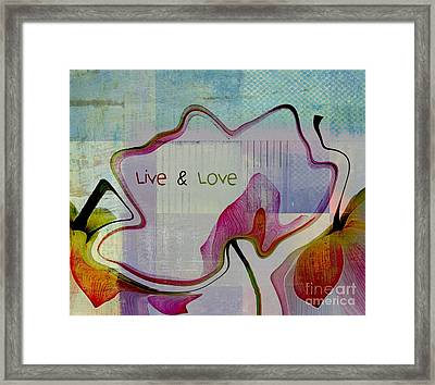 Live N Love - Absfl2tc2 Framed Print by Variance Collections
