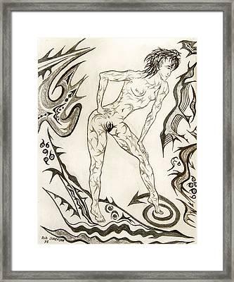 Live Nude 3 Female Framed Print