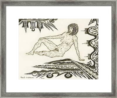 Live Nude 4 Female Framed Print