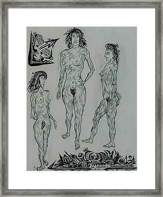 Live Nude 41 Female Framed Print