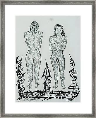 Live Nude 43 Female Framed Print by Robert SORENSEN