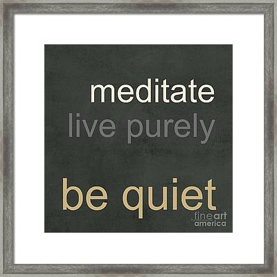 Live Purely Framed Print