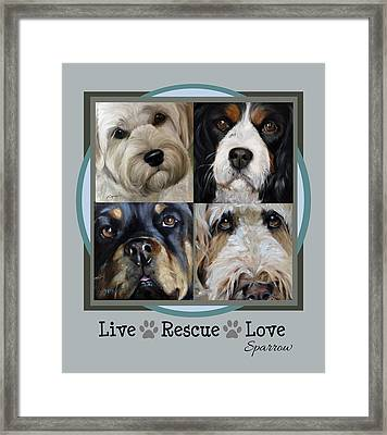 Live Rescue Love Framed Print