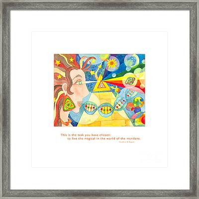 Framed Print featuring the painting Live The Magical by Kristen Fox