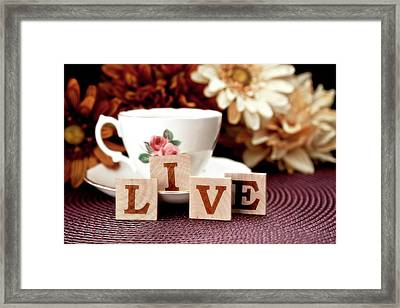 Live Framed Print by Tom Mc Nemar