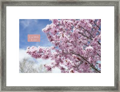 Live With Ease Framed Print