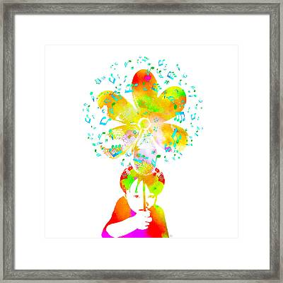 Live Your Music - Green Framed Print