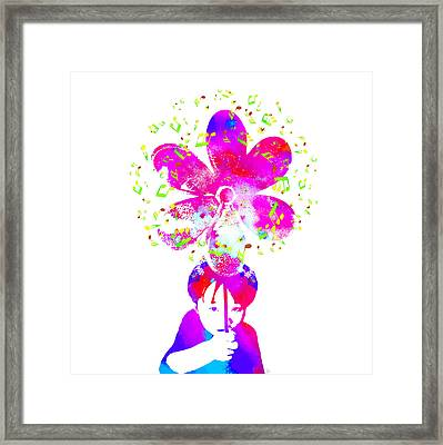 Live Your Music - Purple Framed Print