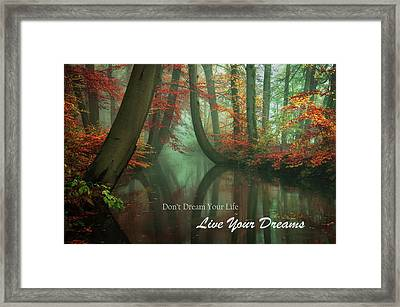 Live Your Dreams Framed Print by Martin Podt