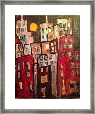 Lively City 1 Framed Print